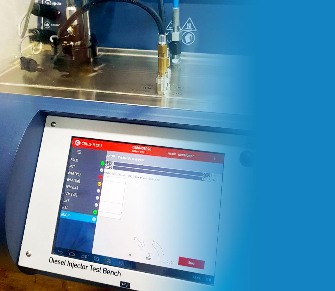 Adquisición del banco de comprobación de inyectores - Laboratorio Diésel 2